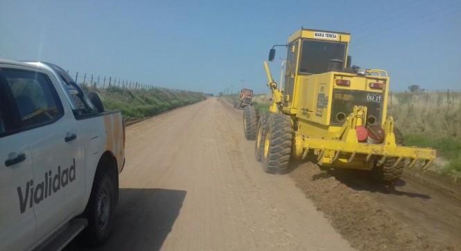 trabajos en la ruta provincial 2S