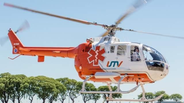 Helicóptero sanitario de la empresa. Gentileza: Vía Rosario