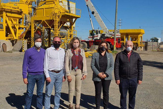 María de los Angeles Sacnun confirmó en Venado Tuerto el comienzo de la obra de reparación en la ruta 33