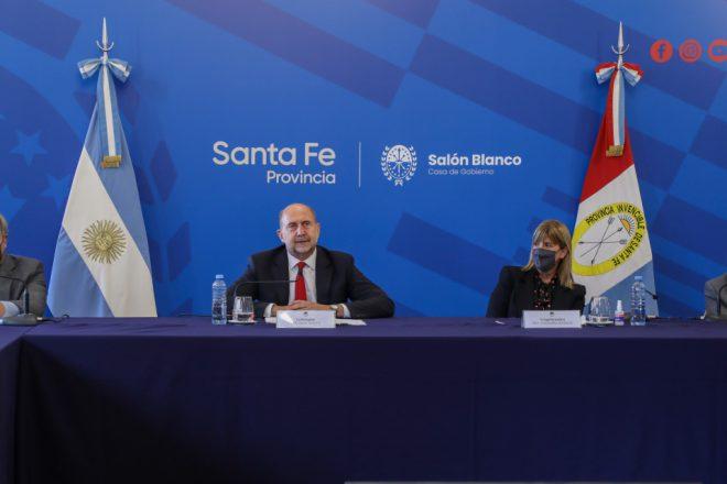Perotti y Falistocco firmaron convenios de cooperación en el marco del Programa Santa Fe + Justicia